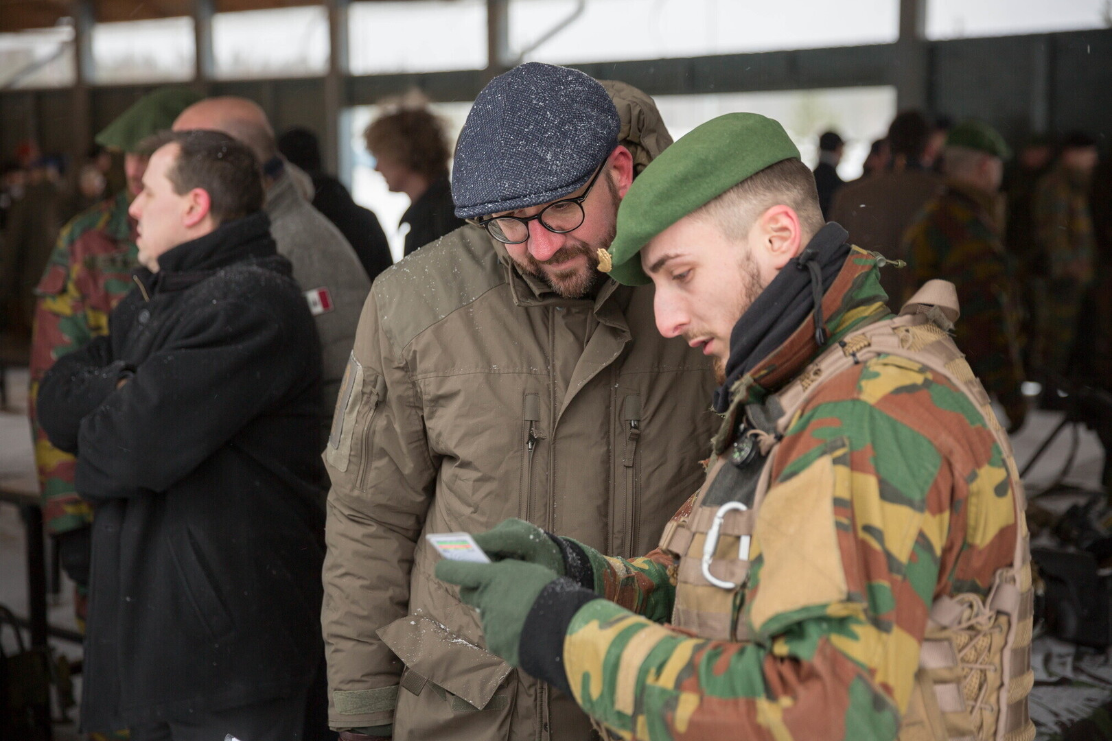 5bba6a5ee24 Photo  Belgian premier Charles Michel meeting with NATO troops from his  country on Wednesday. Author  Kermo Pastarus