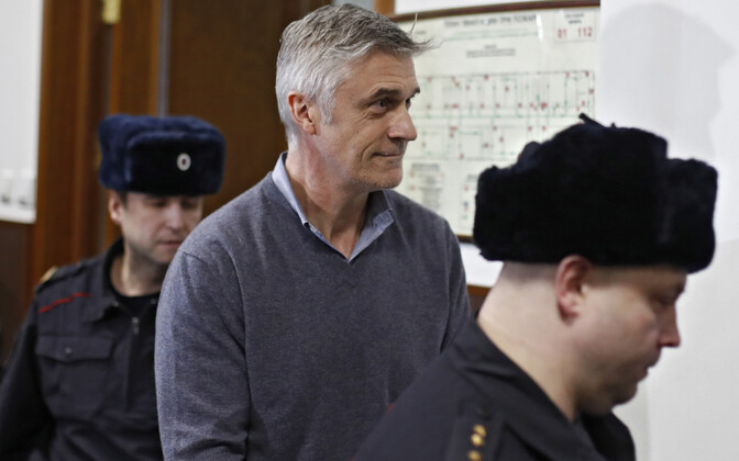USA investor Michael Calvey Moskvas kohtusaalis.