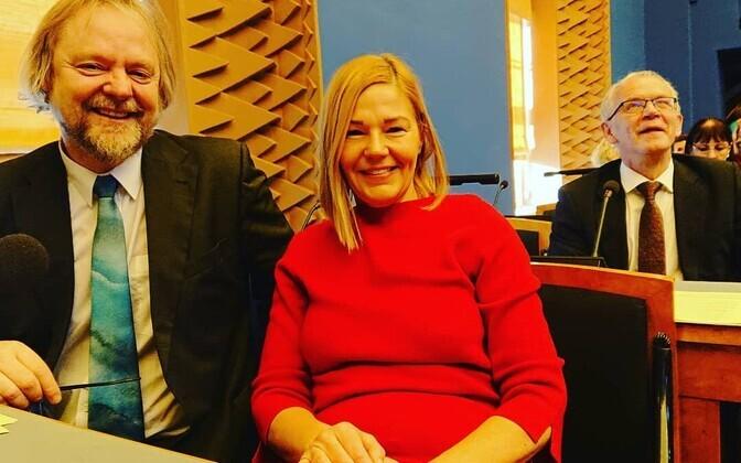 Sotsiaaldemokraadid Toomas Jürgenstein, Barbi Pilvre ja Eiki Nestor.