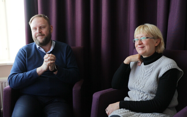 Urmas Vaino ja Reet Weidebaum