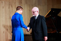 President Kersti Kaljulaid presenting Estonian state awards ahead of Sunday's independence day.