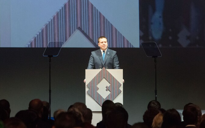 Prime Minister Jüri Ratas delivering his Independence Day speech at the Estonian National Museum (ERM) in Tartu on Friday. 22 February 2019.