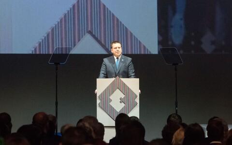 Юри Ратас выступил с речью в Тарту.
