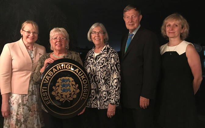 Kaie Tiina Põhi Latterner (second to left) is the new honorary consul in St. Petersburg, Florida.