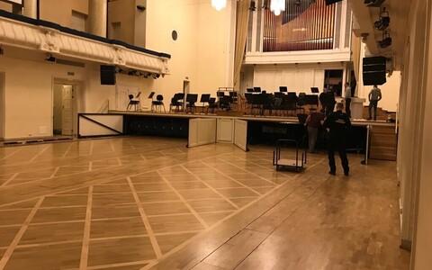 Estonia kontserdimajas käivad ettevalmistused presidendi vastuvõtuks
