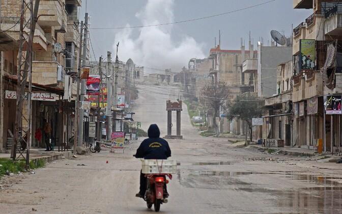 Purustused Süürias Idlibi provintsis.