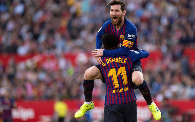 Ousmane Dembele ja Lionel Messi
