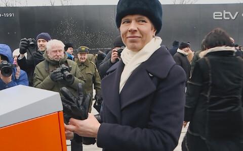 У мемориала жертвам коммунистического режима в Маарьямяэ благодарили активных и отважных жителей Эстонии.