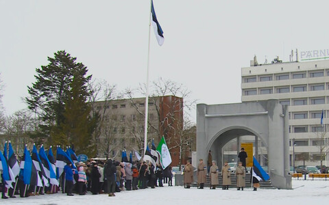 В Пярну зачитали Манифест о независимости.