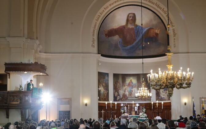 Jumalateenistus Tallinna Kaarli kirikus.