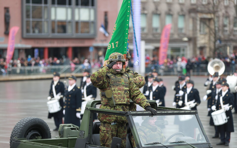 Парад в честь Дня независимости Эстонии.