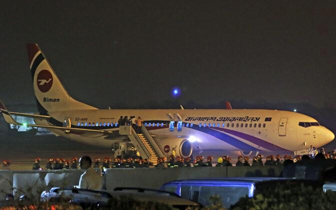 Biman Bangladeshi reisilennuk, mida üritati kaaperdada.