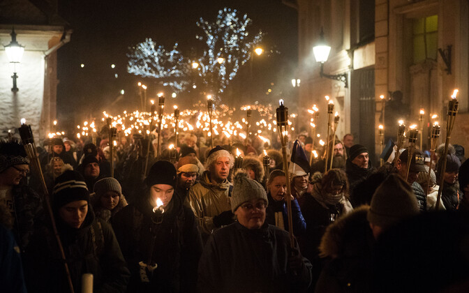 EKRE torchlight procession.