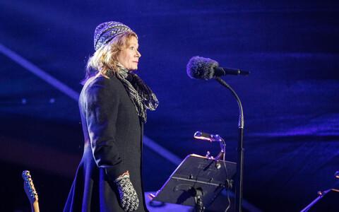 Doris Kareva Islandi väljakul Vabariigi aastapäeval
