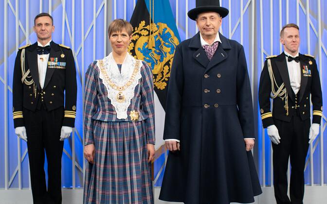 Presidendipaar vabariigi aastapäeval
