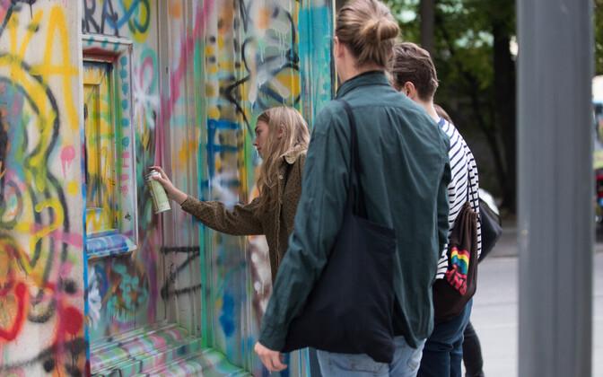 Eesti kunstiakadeemia uue õppehoone avaliku ruumi kunstiteose konkursi võidutöö, betoonist pildiraam.