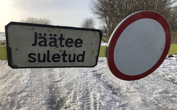 Все ледовые трассы закрыты.