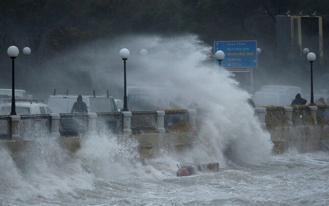 Pühapäevane torm Maltal