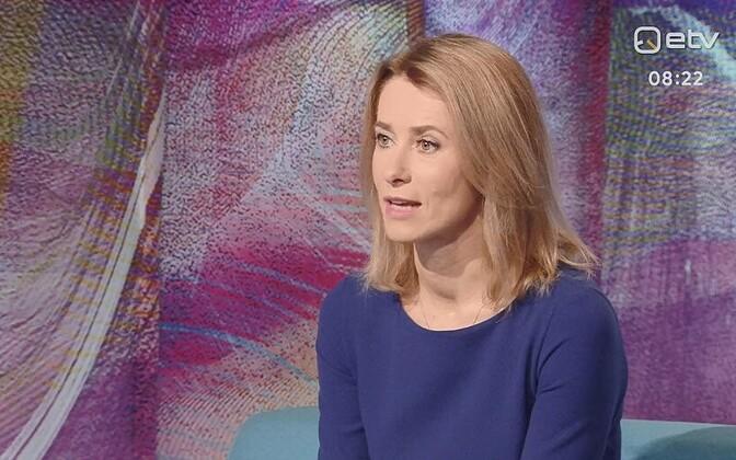 Kaja Kallas on ERR's morning program, 26 February 2019.