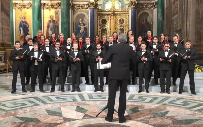 Peterburi Kontsertkoor Iisaku katedraalis.