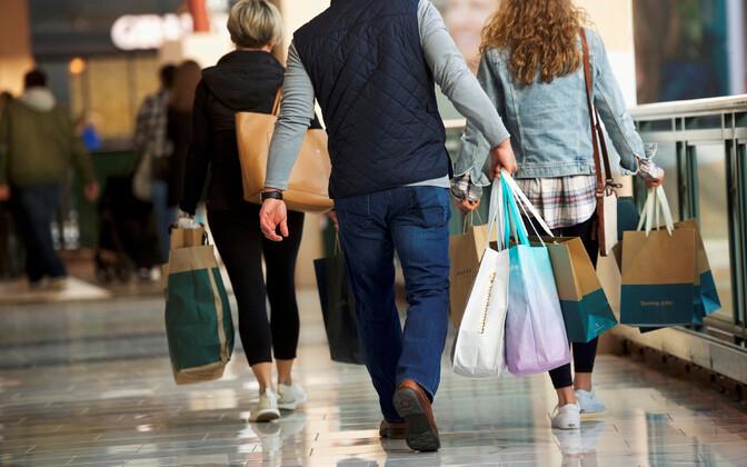 Inimesed USA-s kaubanduskeskuses.