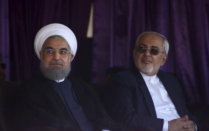 Iraan president Hassan Rouhani (vasakul) ja välisminister Mohammad Javad Zarif.