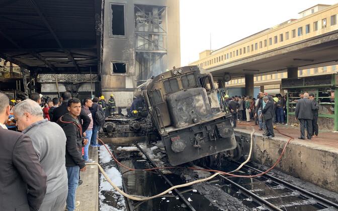 Foto Kairo raudteejaamast.