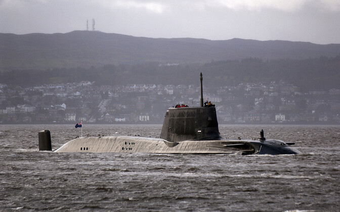 Briti mereväe allveelaev HMS Astute.