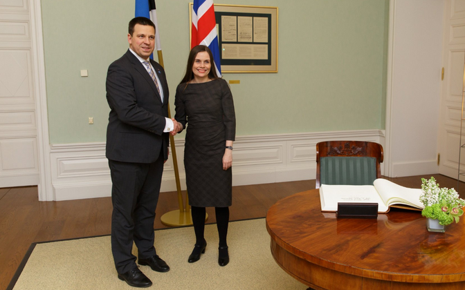 The prime ministers of Estonia and Iceland, Jüri Ratas and Katrín Jakobsdóttir, met earlier this year.