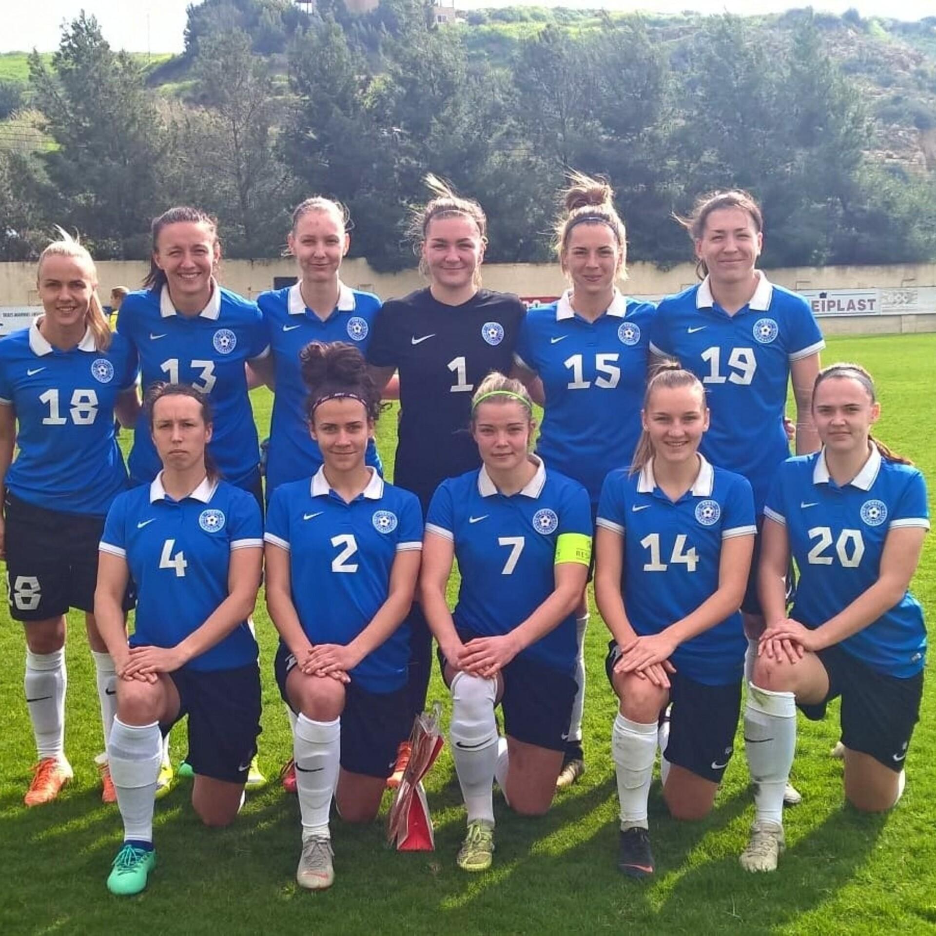 51553d33d82 Naiste jalgpallikoondis sai jagu Aserbaidžaanist | Jalgpalli Eesti koondis  | ERR
