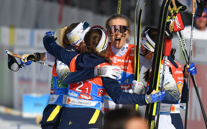 Ebba Andersson, Frida Karlsson, Charlotte Kalla ja Stina Nilsson