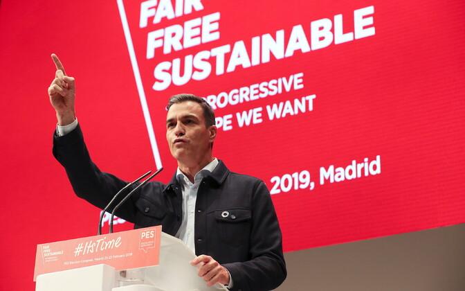 Hispaania Sotsialistliku partei juht, peaminister Pedro Sanchez.