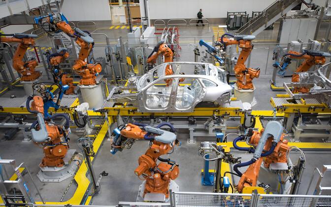 Autotootmine Jaguar Land Roveri tehases.