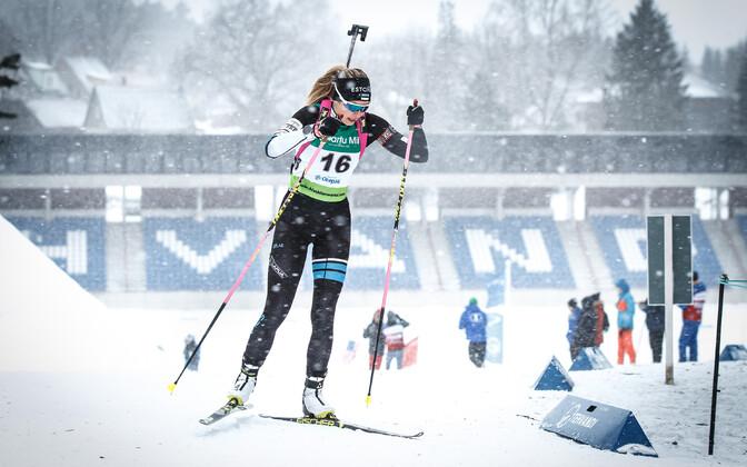 Эстонская биатлонистка Регина Оя.