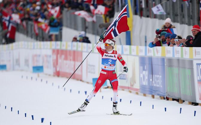 Тереза Йохауг выиграла масс-старт на чемпионате мира.