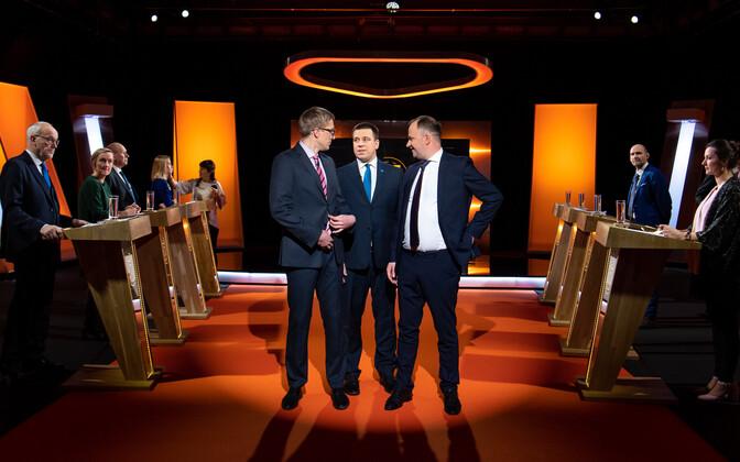 Peaministrikandidaatide debatt ETV-s.