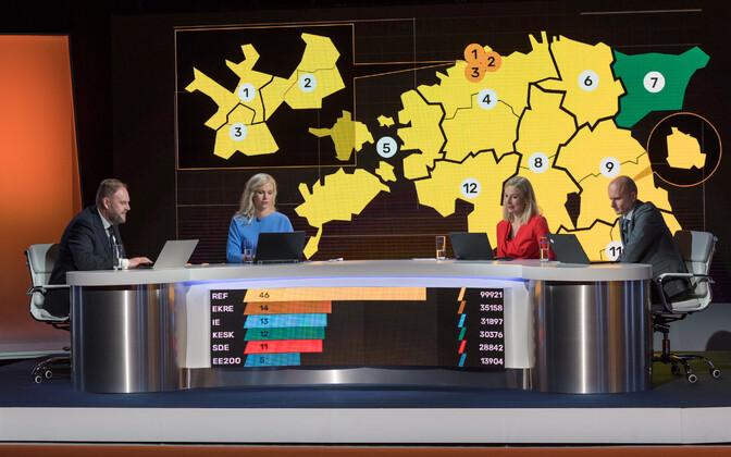 Valimiste õhtu kanalites ETV, ETV+ ja Vikerraadio