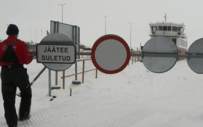 Ледовая трасса Лааксааре-Пийрисааре.
