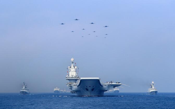 Парад ВМС Китая в Южно-Китайском море в апреле 2018 года.