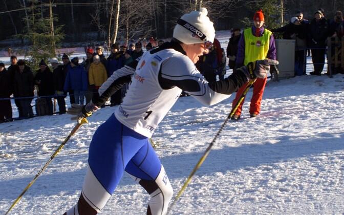 Piret Niglas 2001. aastal Otepääl.