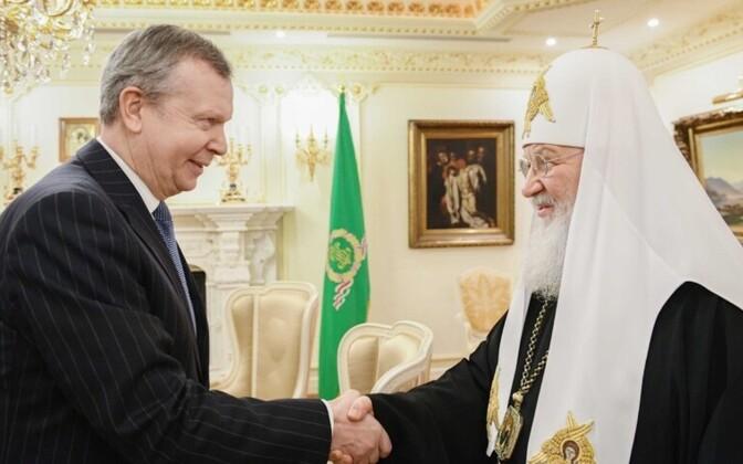 Состоялась встреча святейшего патриарха Кирилла с послом Эстонии в России Маргусом Лайдре.