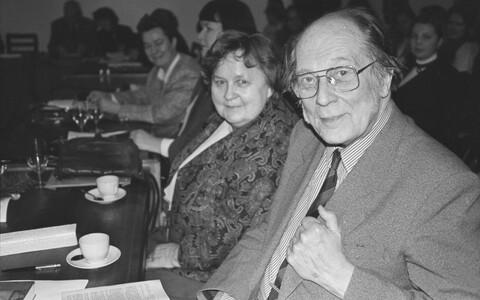 Яан Кросс с писательницей Эллен Нийт.