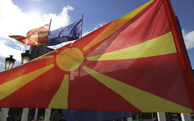 Põhja-Makedoonia lipp.