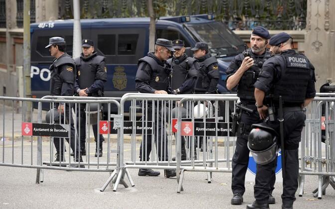Hispaania politseinikud 2017. aasta oktoobris Barcelonas.
