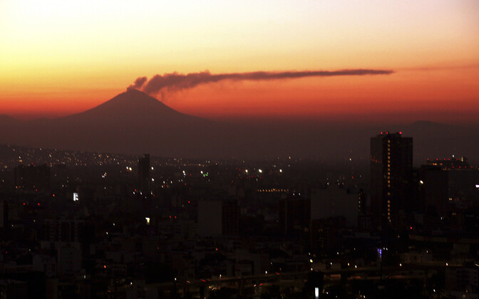 Popocatepetli vulkaan Mehhikos.