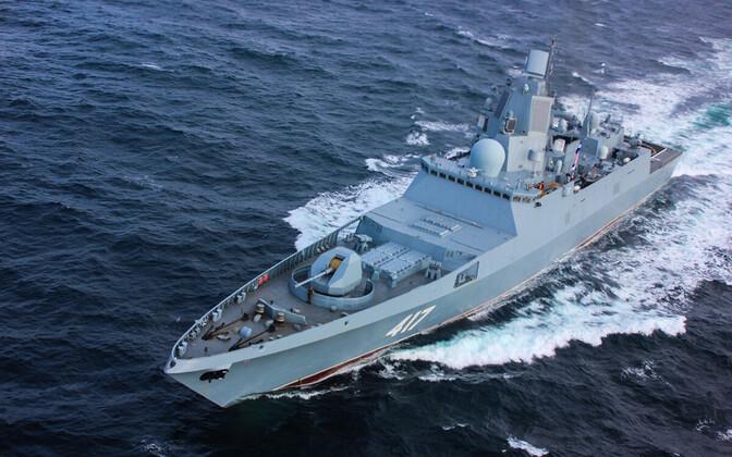 Vene sõjalaev Admiral Gorškov.
