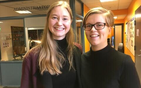 Kalju Komissarovi nimelised stipendumid pälvisid Johanna Mägin (vasakul) ja Katrin Kubber.