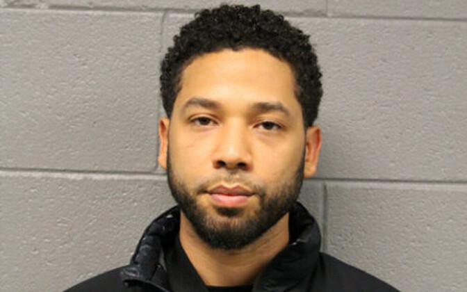 Jussie Smollett Chicago politsejaoskonnas.