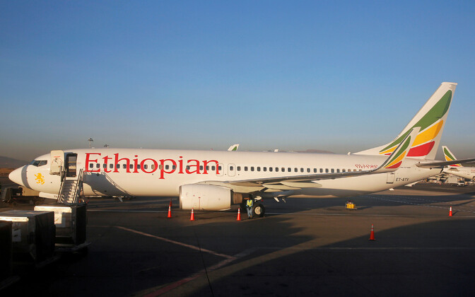 A Boeing 737 Max aircraft in Ethiopian Airlines livery.