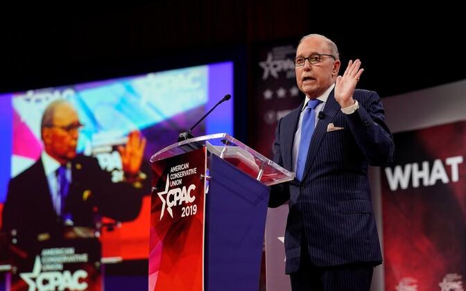 Larry Kudlow USA konservatiivide ühenduse CPAC konverentsil.